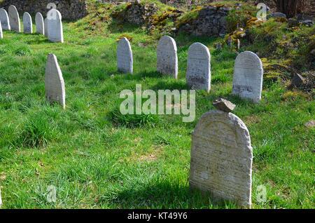 Švihov (Schwihau) in the Czech Republic: the Jewish graveyard - Stock Photo