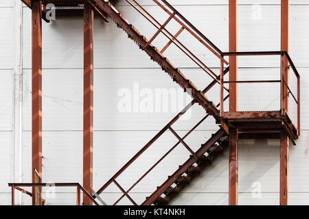 Rusty metal ladder - Stock Photo