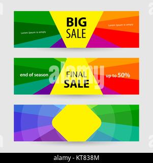 Horizontal Banners big sale and final sale. Abstract vector back - Stock Photo