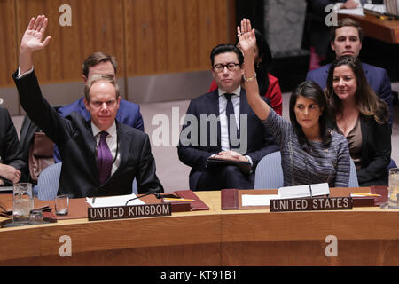 New York, New York, USA. 22nd Dec, 2017. NIKKI R. HALEY, Permanent Representative of the United States during a - Stock Photo