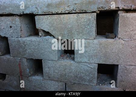 wall brick cement - Stock Photo
