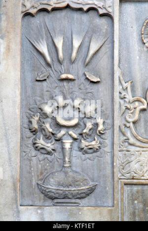 Hekimoglu Ali Pasha fountain in Findikli Istanbul - Stock Photo