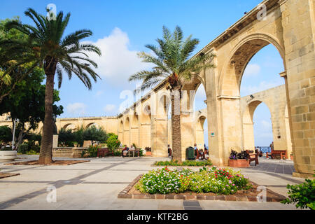 Upper Barrakka Gardens, Valletta, Malta - Stock Photo