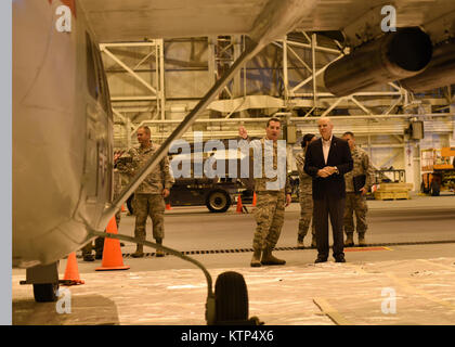 U.S. Air Force 1st Lt. Patrick Gillen a maintenance officer with the 105th Airlift Wing, New York Air National Guard, - Stock Photo