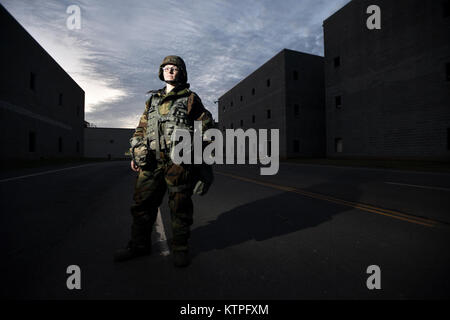 PERRY, GA - Airman First Class Renee Dillman pauses for a portrait during Global Dragon Deployment For Training - Stock Photo