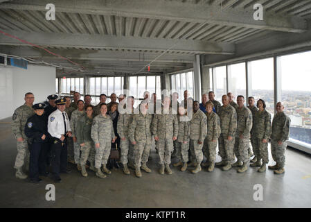 NEW YORK, NY - Members of the Enlisted Field Advisory Council pose for a group portrait during a visit the Ground - Stock Photo