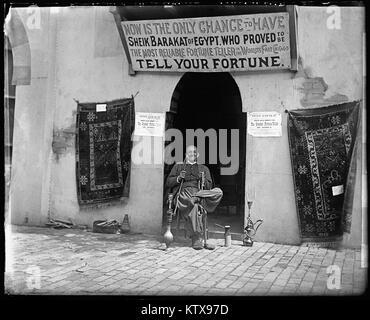 Hookah smoking fortune teller Sheik Barakat of Egypt at the California Midwinter International Exposition. This - Stock Photo