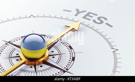 Ukraine High Resolution Yes Concept - Stock Photo