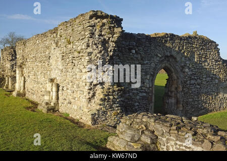 Lesnes Abbey ruins (12th century), Thamesmead, near Abbey Wood, south-east London, England, United Kingdom, 18 December - Stock Photo