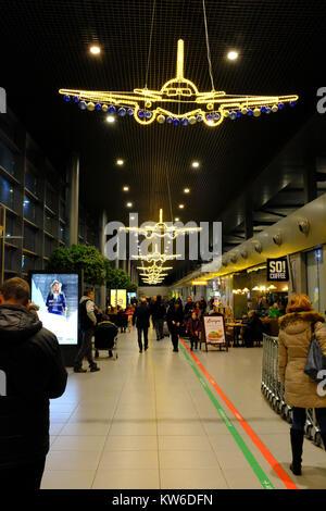 Christmas Lights Katowice Airport - Stock Photo