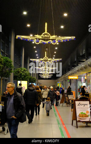 Christmas Lights Katowice Airport - Stock Photo