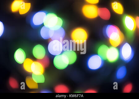 Abstract blurred christmas ligth background - Stock Photo