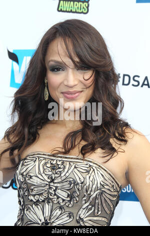 SANTA MONICA, CA - AUGUST 19: Former wife of pop star Prince Mayte Garcia arrives at the DoSomething.org And VH1's - Stock Photo