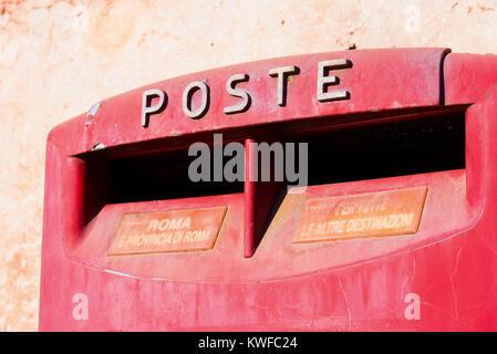 Old Italian Mailboxes in Rome, Lazio, Italy - Stock Photo
