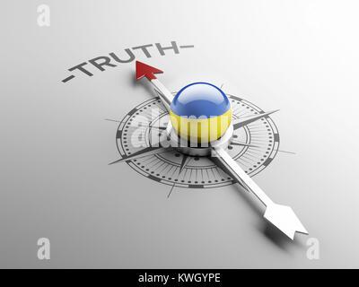 Ukraine High Resolution Truth Concept - Stock Photo