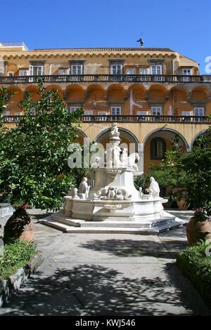 NAPLES , ITALY ON 10/16/2016 The cloister of San Gregorio Armeno, Naples - Stock Photo