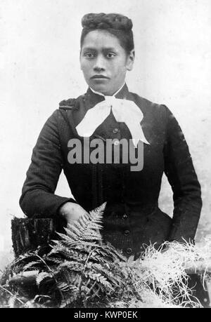 Meri Te Tai Mangakāhia, a member of the Kotahitanga movement in the 1890s, who argued that women should have equal - Stock Photo