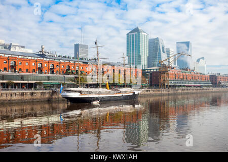Puerto Madero, known within the urban planning community as the Puerto Madero Waterfront in Buenos Aires, Argentina - Stock Photo