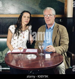 Nerina Pallot English singer-songwriter photographed with Music manager Simon King  in west London, England, United - Stock Photo