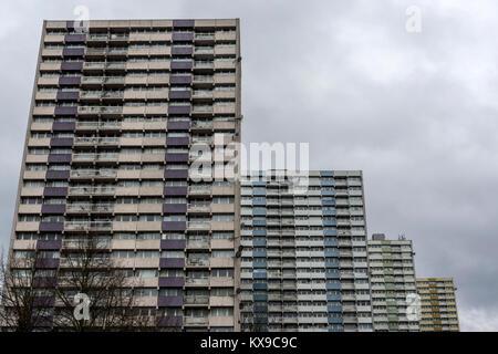 Tower Blocks on Ponders End Estate, London - Stock Photo