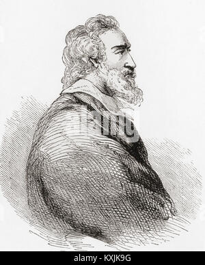 Henry IV, aka Good King Henry, 1553 – 1610.  King of Navarre (as Henry III) from 1572 to 1610 and King of France - Stock Photo