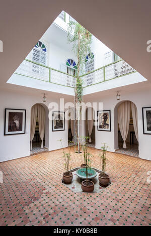 MARRAKECH, MOROCCO - FEBRUARY 22, 2016: The Photography Museum of Marrakesh is located in the Medina, the oldest - Stock Photo