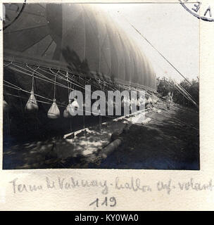 Ferme de Vadenay. Ballon cerf-volant - Fonds Berthelé - 49Fi1875-119 - Stock Photo