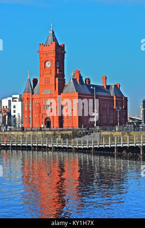 The Pierhead Building in Cardiff Bay is part of the National Assembly for Wales Estate. A Grade I Listed Building. - Stock Photo