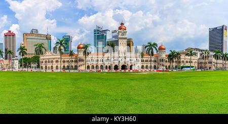 Sultan Abdul Samad Building in the cosmopolitan city of Kuala Lumpur, Malaysia - Stock Photo