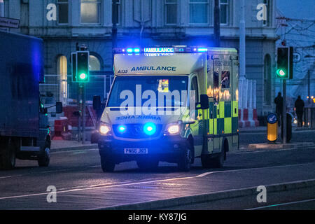 a ambulance medic paramedic emergency urgent healthcare first aid cpr response medical ambulances siren sirens ems - Stock Photo