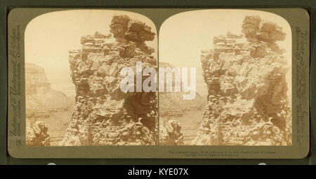 The Guardian Giants - work of erosion on the Rim, by Underwood & Underwood - Stock Photo