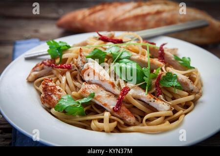 thai chicken noodles - Stock Photo