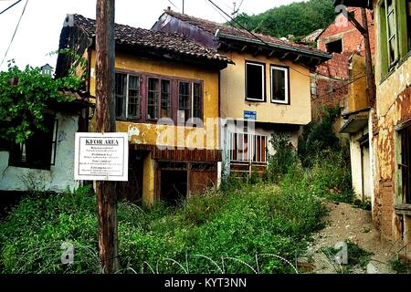 The medieval town of Prizren (Kosovo, until 2008 part of Serbia) survived the war of 1999 without heavier damage, - Stock Photo