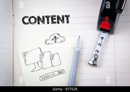 Content concept. social media, digital marketing and internet business - Stock Photo