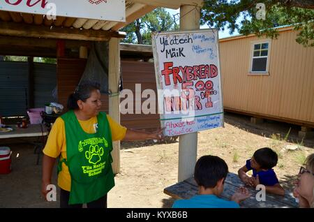 navajo people selling frybread at Mesa Verde National Park colorado USA - Stock Photo