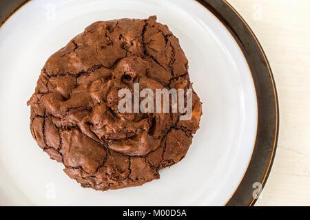 Homemade triple chocolate cookies. - Stock Photo