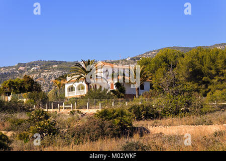 Spanish Villa set in the Hills Alcossebre, Spain - Stock Photo