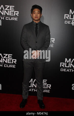 Ki Hong Lee  01/18/2018 Red Carpet Fan Screening of 'Maze Runner: The Death Cure' held at AMC Century City 15 at - Stock Photo
