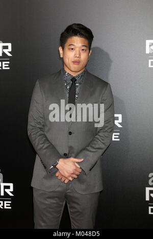 Los Angeles, CA, USA. 18th Jan, 2018. Ki Hong Lee at arrivals for MAZE RUNNER: THE DEATH CURE Premiere, AMC Century - Stock Photo