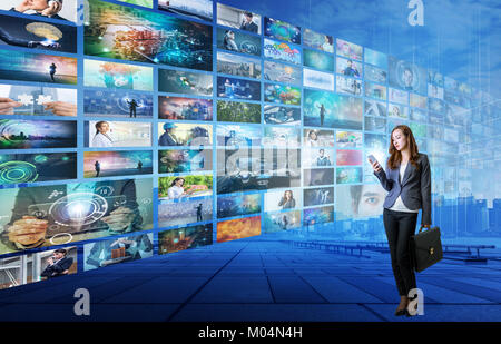 video hosting website. movie streaming service. digital photo album. - Stock Photo