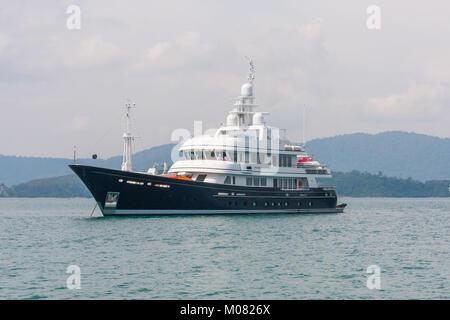 Andiamo luxury charter yacht built by Benetti - Stock Photo
