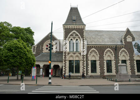 View of refurbished Cantebury Museum of human and natural history, Christchurch, New Zealand - Stock Photo