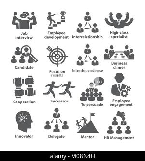 Business management icons Pack 33 - Stock Photo