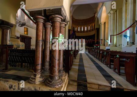 STONE TOWN, ZANZIBAR - JANUARY 9, 2015: Interior of Christ Church Cathedral - Stock Photo