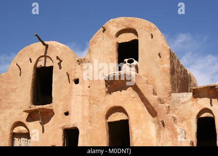 Ksar Ouled Soltane, fortified granary, Tataouine district, Tunisia - Stock Photo