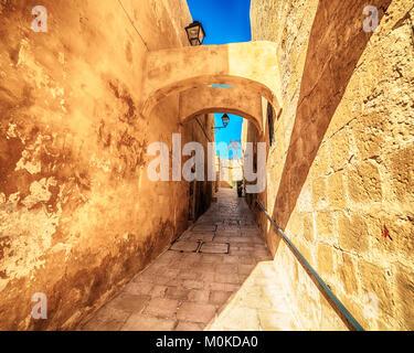 Victoria, Gozo island, Malta: the Cittadella - Stock Photo