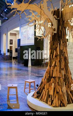 BOZAR gallery exhibition in Brussels Belgium - Stock Photo