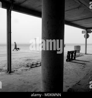 General view of Malo-les-Bains, Dunkirk, France - Stock Photo