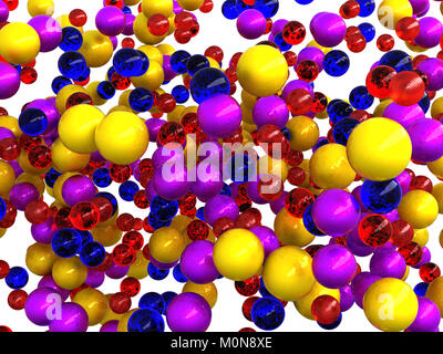 Abstract colorful spheres isolated over white background - Stock Photo