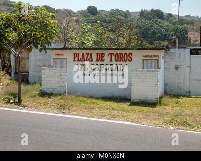 A Rural Bullfighting Ring Plaza De Toros El Jabali Comala, Colima Mexico - Stock Photo
